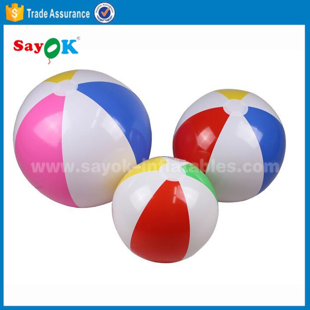 Популярный дешевый надувной гигантский пляжный мяч из ПВХ оптом