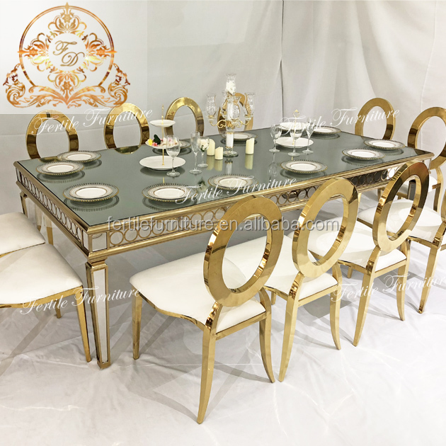 Hot Sale Rectangle Shape Mirror Glass Top Table For Wedding Event Buy Mirror Glass Top Table Metal Base Dining Table Glass Dining Table Design Product On Alibaba Com