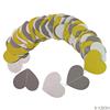 Yellow white gray