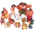 Moana Action Figures Toys 12Pcs Set Heihei Tamatoa Chief Tui Sina Tala Gift Doll Plastic Anime