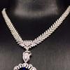 18k gold diamond necklace purchase separately