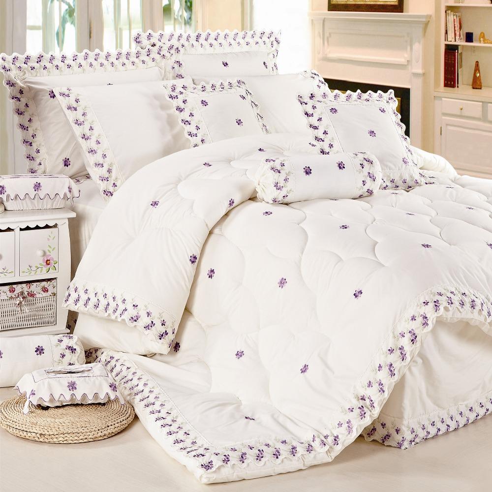 9 шт., 300 г, комплект стеганых одеял из полихлопка, Королевский размер, юбка для кровати