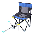 Outdoor Portable Ultralight Multifunction Fishing Chairs Folding Stool with 2 1m Aluminum Stand 1 9m Dip
