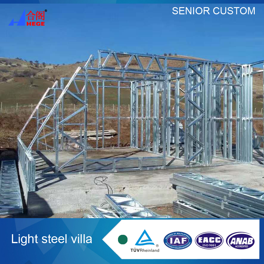 China manufacturer triangle house Villa Light steel villa in Europe