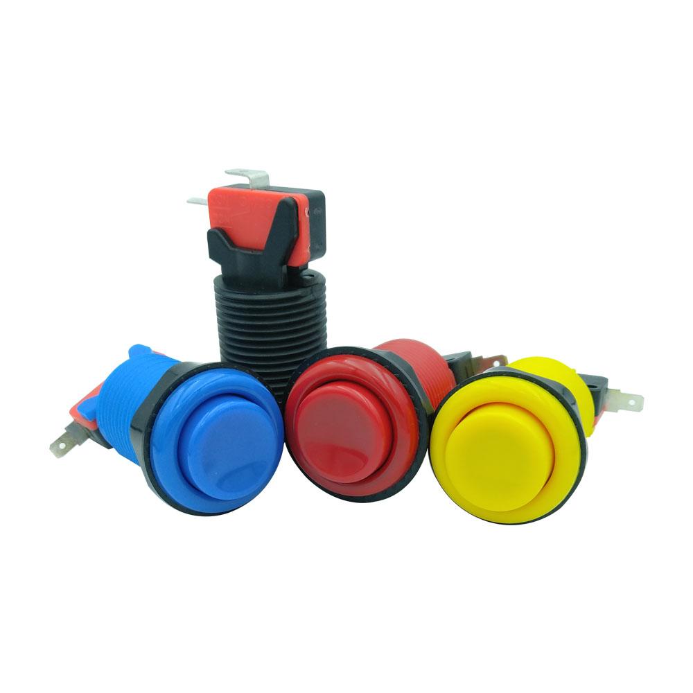 Красочная Кнопка аркадный переключатель usb аркадные кнопки пластиковая кнопка переключатель