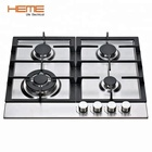 Manufacturer china kitchen appliances stainless steel 4 burner 60cm built in gas cooker cooktop