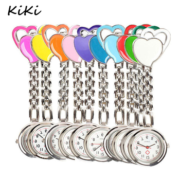 >>>New Chest Pocket Watch Doctor Nurse Watch Warm Sweet Heart Quartz Fob Brooch Pocket Watch with Clip