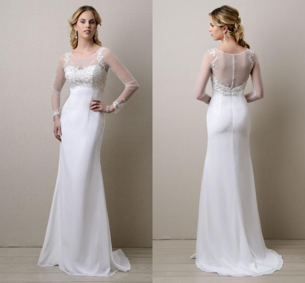 Buy long sleeve wedding dresses online