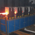 Hongteng 200KW industrial half frequency steel rod bar iron electric induction heating furnace before forging