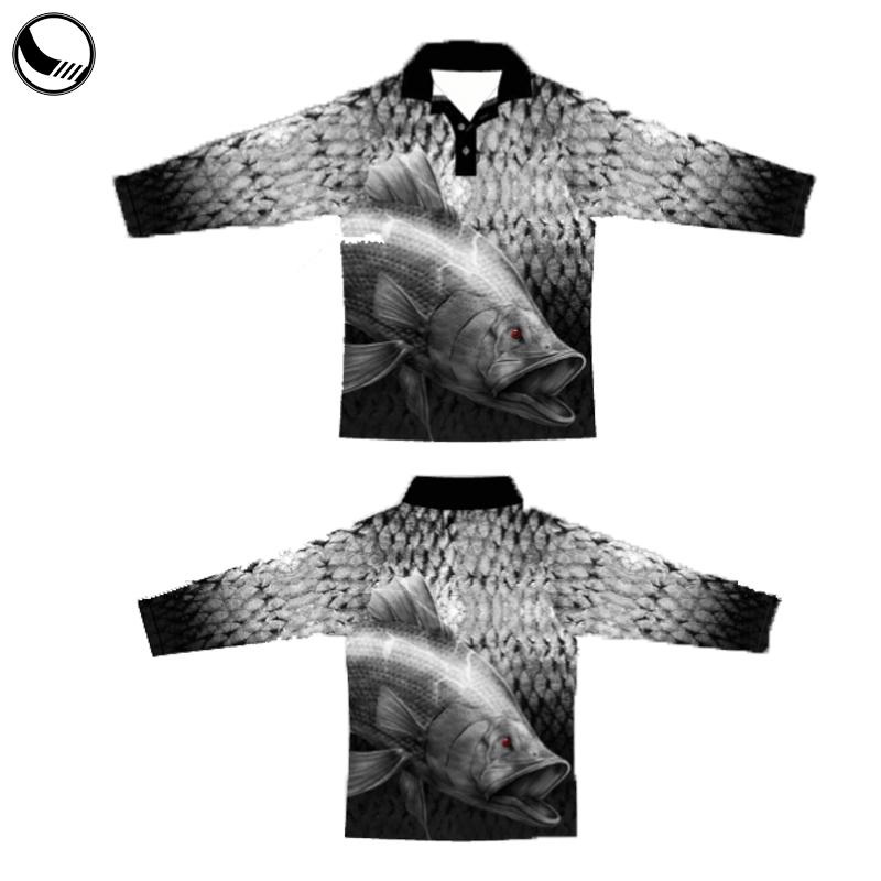 custom dye sublimation tournament fishing shirt