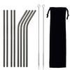 Black(4 straight+4 bent+2 brush+1 pouch)
