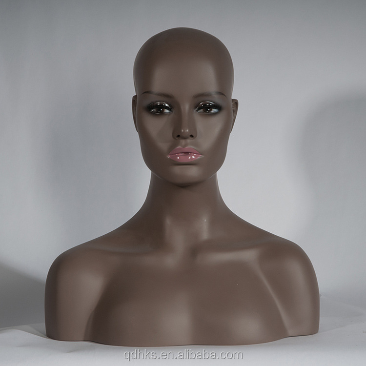 glass hat hair display mannequin head with stand