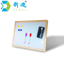 Free shipping dry erase magnetic board wood frame whiteboard can be erased easily and write repeatly.office supplier 30*40cm