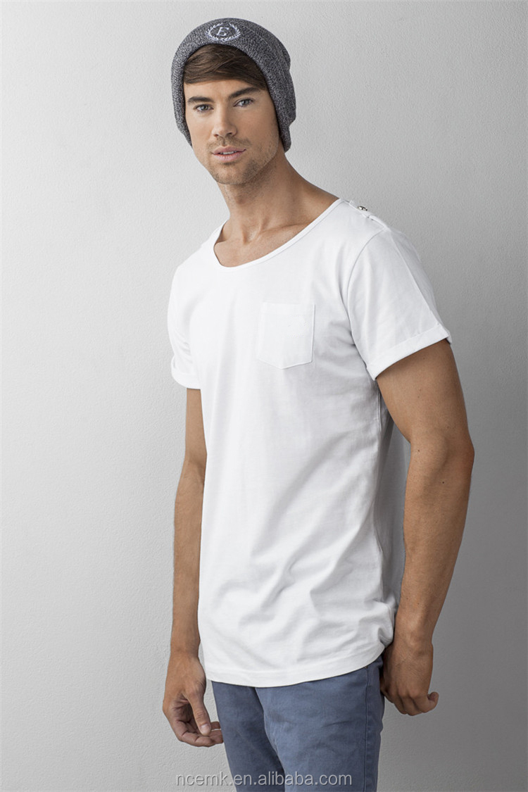 439dbad3 Wide Scoop Neck T Shirt Mens