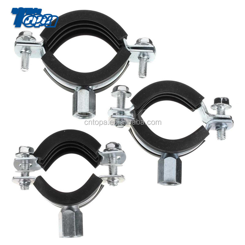 Bolt Drive Adjustable Gas Radiator Black Hose Clamps Finisher American and rubber tube clamp