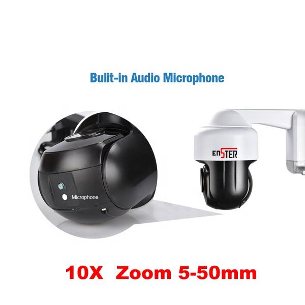 10X оптический зум водонепроницаемый IR LED 60m H.265 ONVIF наружная сеть безопасности скоростная Купольная Wi-Fi PTZ камера