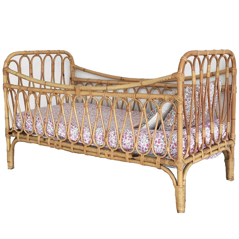 French Style Rattan Furniture Baby Bed