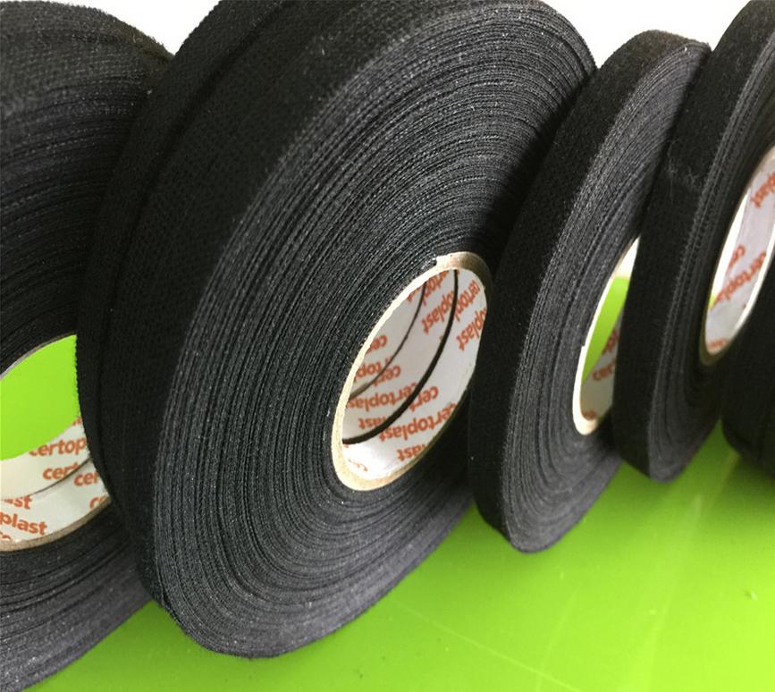 Лента из ткани с защитой от износа, 25 м x 9 мм x 0,3 мм