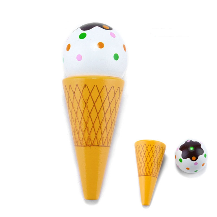 Wholesale Funny Toy Wooden Kitchen Toys Pretend Play Ice Cream Toy For Kids