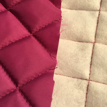 Quilted microfiber fabric by the yard for warm