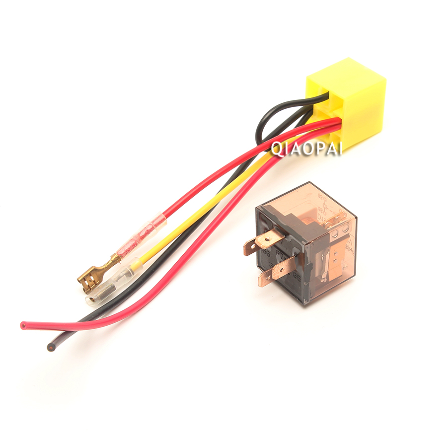1pc Universal Car Horn Relay 12v  24v 100a Motorcycle Waterproof Relay 4 Pin Lamp Air Conditioner