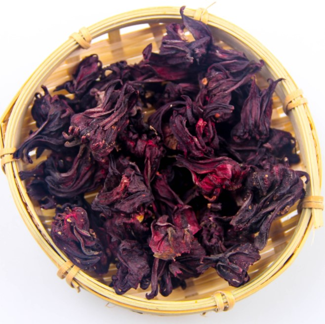 Organic dried hibiscus flowers cut & sifted 100% natural hibiscus tea bulk bag
