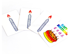 Free shipping Happy birthday card group prediction magic trick magic cards