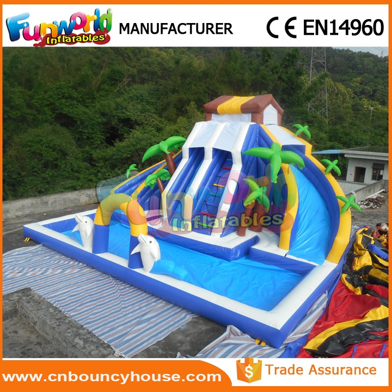 Inflatable Slide Where To Buy: Inflatable Slide With Pool Cheap Inflatable Water Slides
