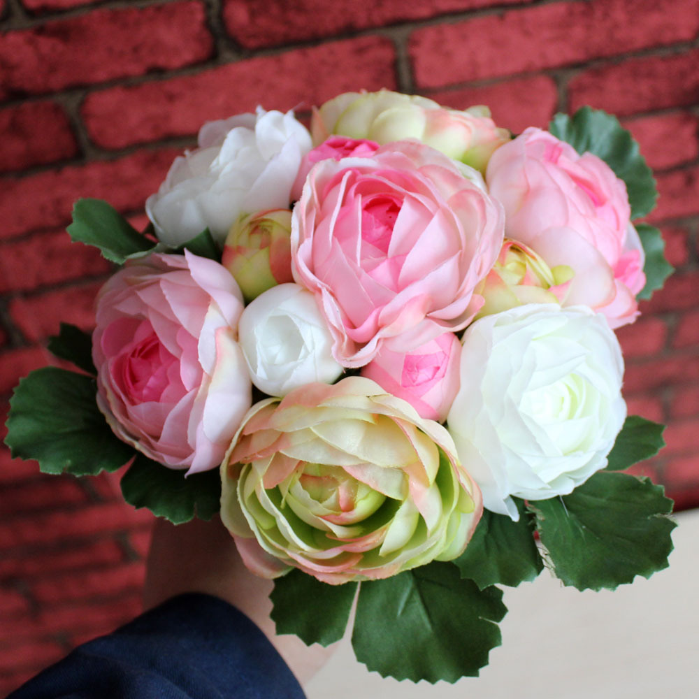 4 colors camellia rose wedding bridal flower bouquet silk flores artificiales para decoracion. Black Bedroom Furniture Sets. Home Design Ideas