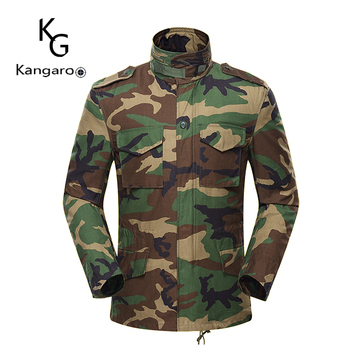 Heavy Duty Anti-Torn High Abrasion Us Woodland Camouflage Army Green Field M65 Jacket Made In China