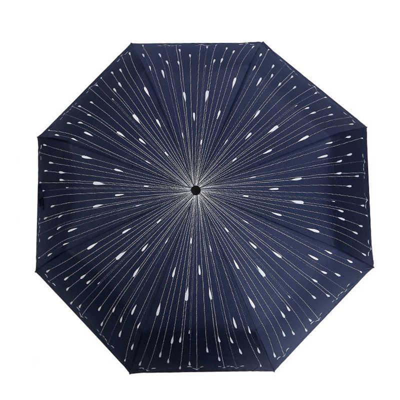 Творческий падающая звезда три - складной зонтик дождь женщины и мужская зонтик мода зонт элементы новизны
