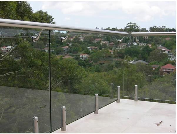 Безрамные стеклянные перила для балкона, стеклянные перила, перила из нержавеющей стали