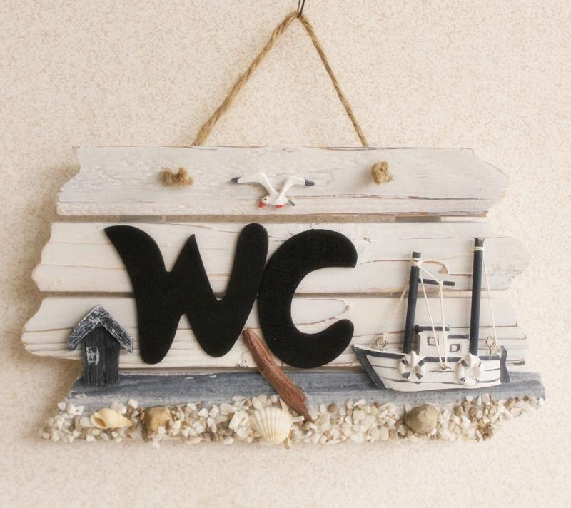 rustic wc wooden plaque restroom door plate nautical style home decoration wooden crafts 2pcs. Black Bedroom Furniture Sets. Home Design Ideas