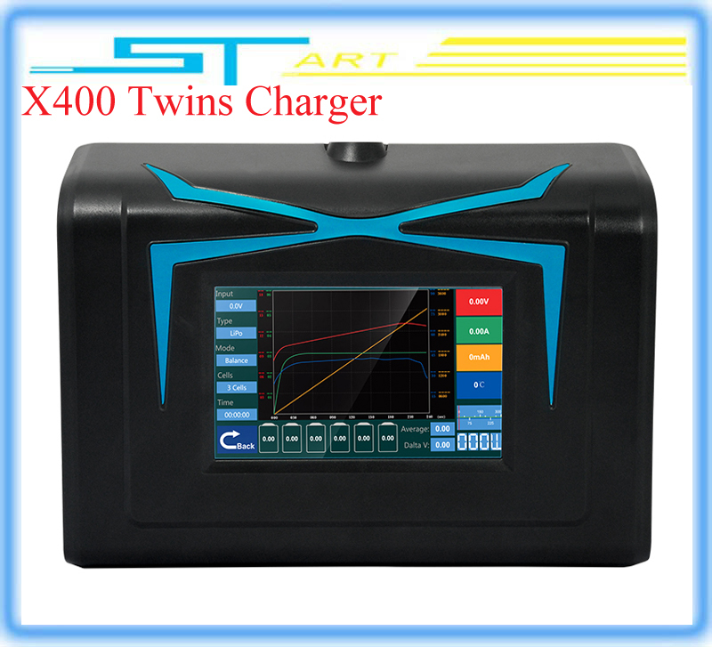 New Imax RC Lipo Charger X400 Twins Released Touch Screen 400W Original