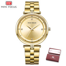 Кварцевые часы MINIFOCUS для женщин, модные женские часы синего цвета, водонепроницаемые(Китай)