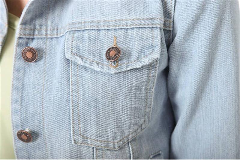 28f97734f71c New Spring Summer 2016 Plus Size Vintage Cropped Short Denim Jacket Long-Sleeve  Cardigan Coat Jeans Jacket Women