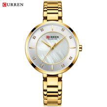 Curren женские часы из розового золота, Топ бренд, роскошные часы для женщин, Кварцевые водонепроницаемые женские наручные часы для девушек, ча...(Китай)