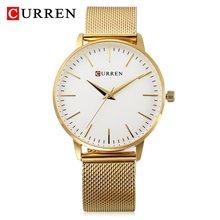 CURREN Модные черные часы Relogio Feminino Для женщин часы Роскошные женские наручные часы простые женские ультра-тонкие часы Montre Femme(Китай)