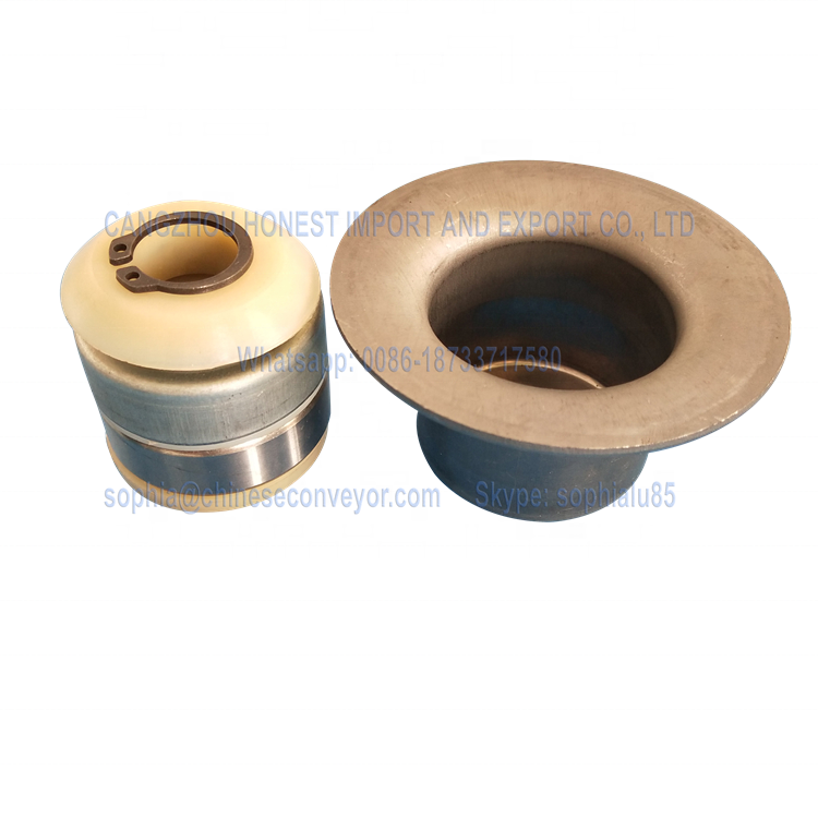 Water resistance and Dust proof TK contact bearing housing and labyrinth seals for conveyor idler