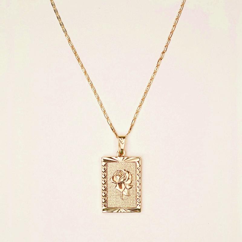 Ожерелье с подвеской Everly Rose, простое Золотое ожерелье