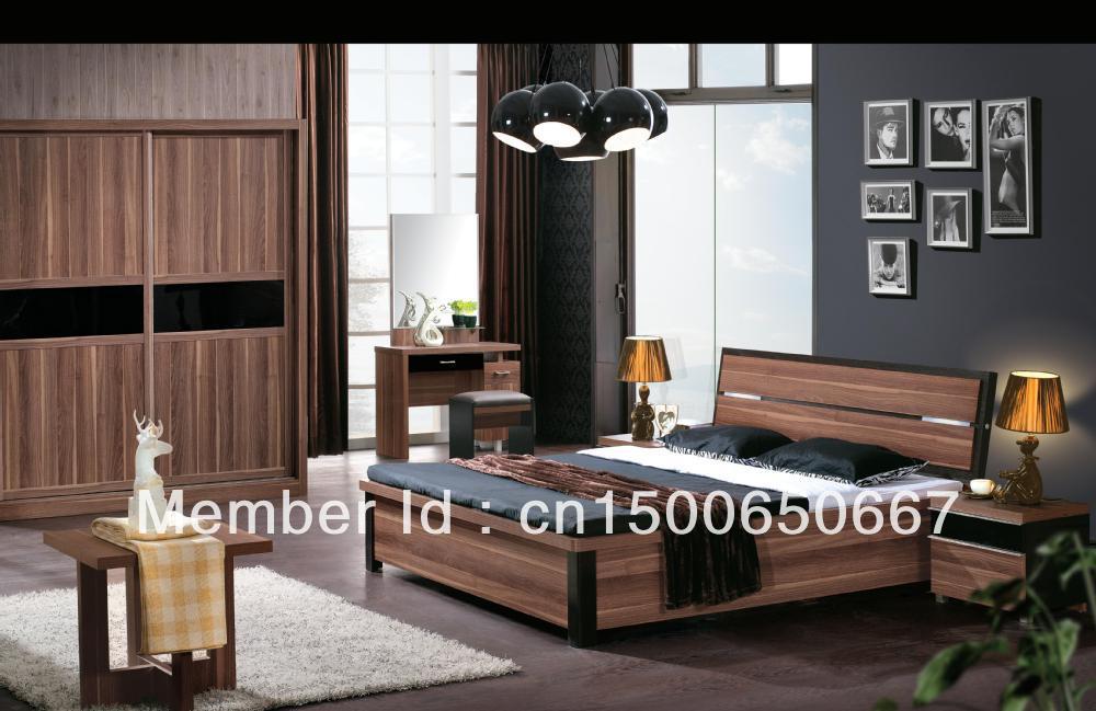 mobilier de chambre yazhou lit king size avec bo te de rangement dans lits de meubles sur. Black Bedroom Furniture Sets. Home Design Ideas