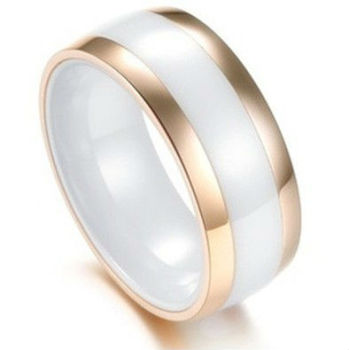 High quality wholesale ceramic engagement ring in 916 gold