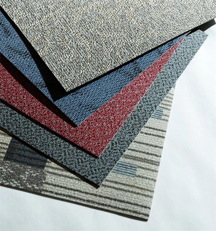 Ковер дизайн 2,0 мм коммерческого и домашнего использования сухие виниловые плитки пола для продажи