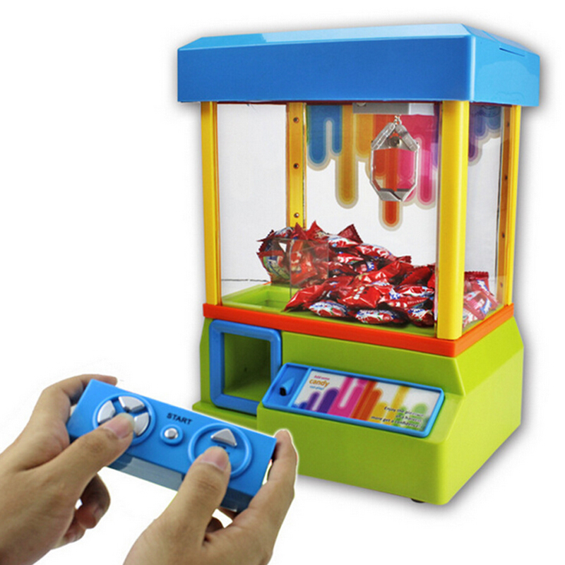 Funny game plastic mini rc candy grabber for kids