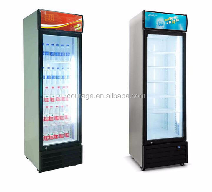 250 200L Swing Doors Upright Commercial Beverage Display Showcase