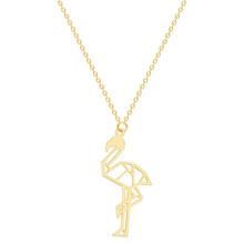 Ожерелье Cxwind, оригами, фламинго, птицы, ожерелье с подвеской простое, модное женское ожерелье из нержавеющей стали, аксессуары для ювелирных...(Китай)