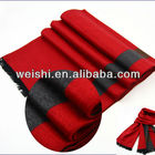 2014 Latest design custom double side pure wool silk shawl