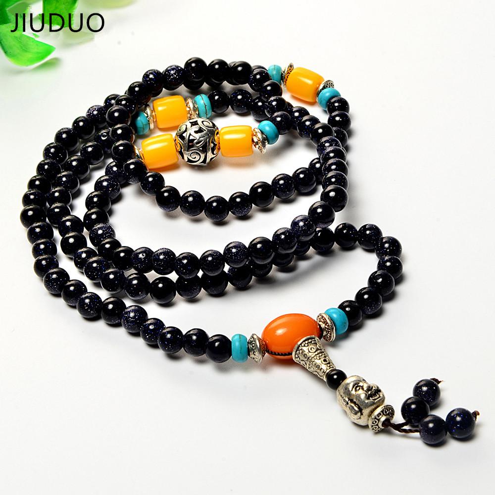 JIUDUO Природного браслет агата ожерелье длинный участок двойного назначения элегантный нейтральный доставка специальное предложение