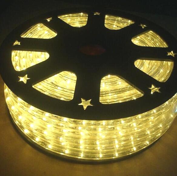Рождественское время Водонепроницаемый Ip65 Лидер продаж Квадратный свет 10 м 20 ламп Красочные гирлянды Светодиодная гибкая веревка