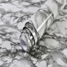 ПВХ мраморная Водонепроницаемая контактная бумага, виниловая самоклеющаяся настенная бумага, декоративная пленка, кухонные шкафы, столешн...(Китай)